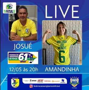 Live da Federação Sergipana com a craque Amandinha do Leoas da Serra e Seleção Brasileira