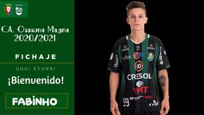 Fabinho ex Marreco, é novo jogador do CA Osasuna Magna
