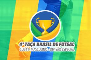 A cidade de São Luís recebe a 4ª Edição da Taça Brasil Sub-11 Masculino Divisão Especial