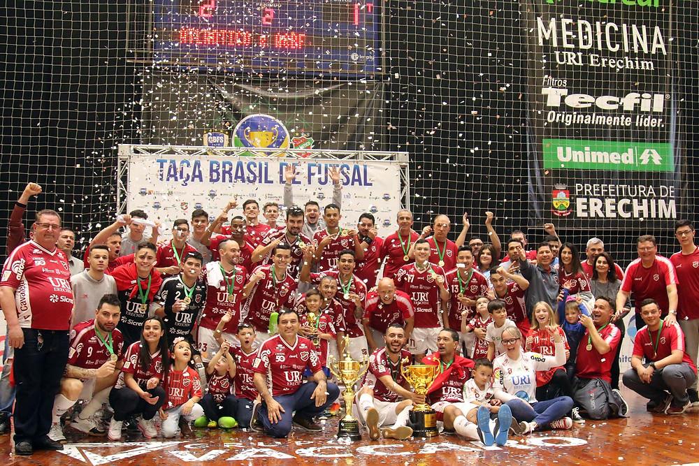 Crédito: Edson Castro - Equipe Atlântico Futsal Campeão da Taça Brasil de Clubes Edição 2019