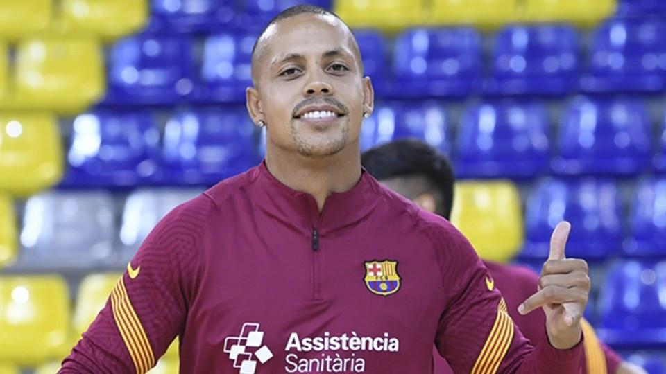 Crédito: LNFS - Ferrão, jogador do Barça.