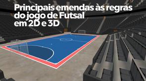 A CBFS elaborou um vídeo ilustrando as emendas as regras FIFA em 2D e 3D