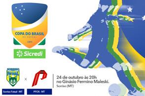 Sorriso Futsal enfrenta PFOS pela Copa do Brasil Sicredi