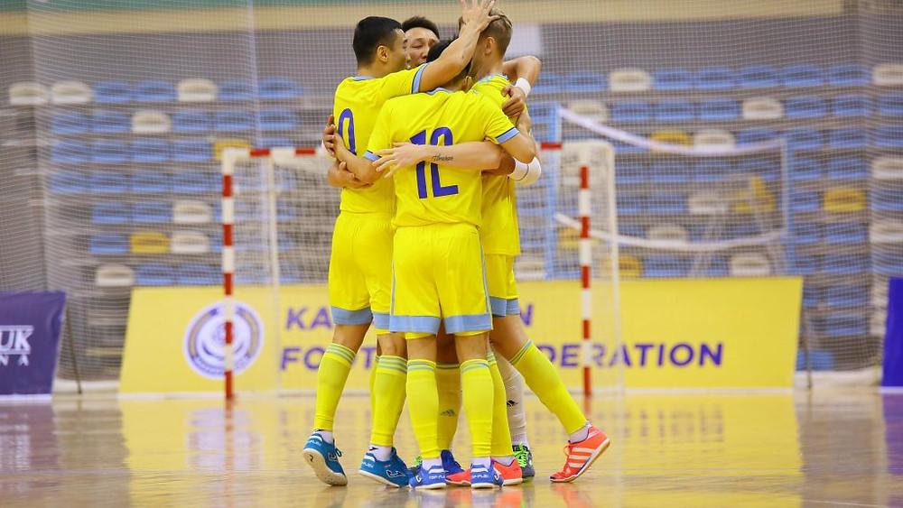 Crédito: kff.kz - Cazaquistão fez 5 a 0 na Hungria