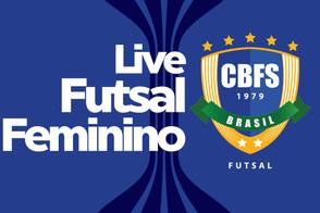 Live Futsal Feminino Tatiana Weysfield, Naiara Gresta e as atletas Débora Vanin e Juliana Delgado