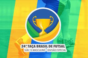 A cidade de Belém recebe a 24ª Edição da Taça Brasil de Clubes Sub-15 Masculino Divisão Especial