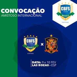 Seleção Brasileira Feminina convocada para amistosos com a Espanha em fevereiro