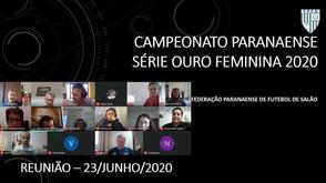 Federação Paranaense reuniu-se com os clubes da Série Ouro Feminino