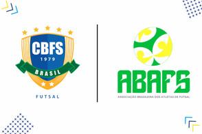 A Confederação Brasileira de Futsal apoia a Associação Brasileira dos Atletas de Futsal
