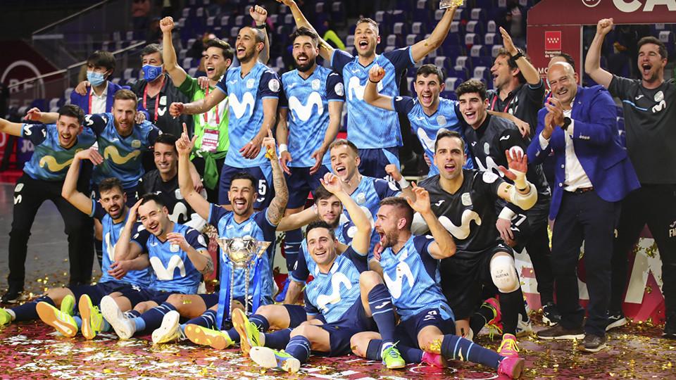 Crédito: LNFS - Inter FS, campeão da Copa Espanhola de Futsal