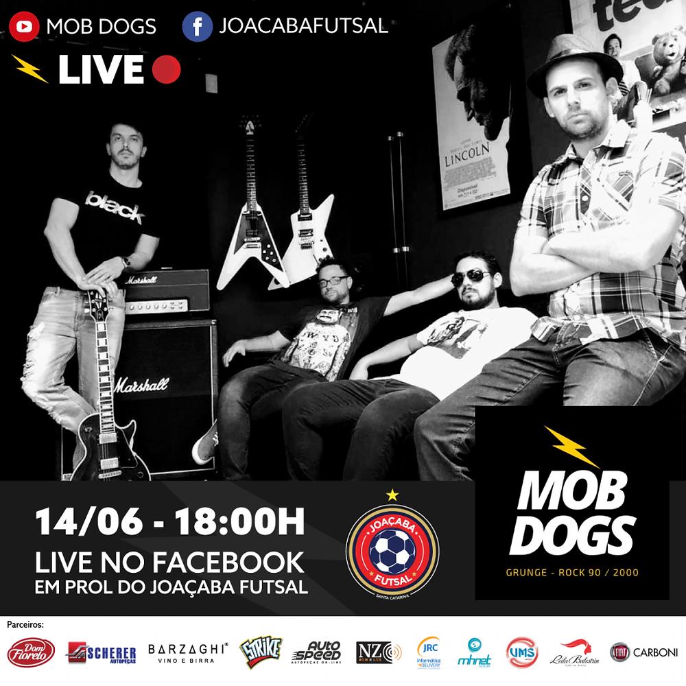 Banda Mob Dogs promove live para ajudar o Joaçaba