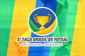 A cidade de João Pessoa recebe a 5ª Edição da Taça Brasil Sub-13 Masculino Divisão Especial
