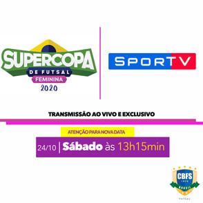 Alteração a data da Segunda partida da Supercopa de Futsal Feminino