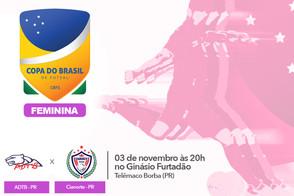 ADTB e Cianorte estreiam na Copa do Brasil de Futsal Feminina