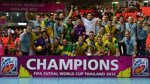 O Brasil é o país com maior número de títulos em Copas do Mundo de Futsal
