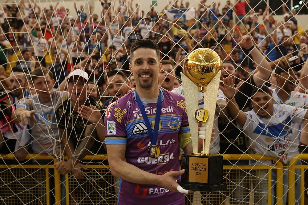 Crédito: Mauricio Moreira - Djony é um dos maiores ídolos do futsal de Pato Branco