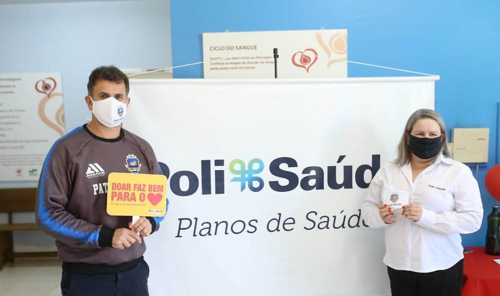 Crédito: Maurício Moreira - Pato e Poli Saúde unidos em campanha de doação de sangue