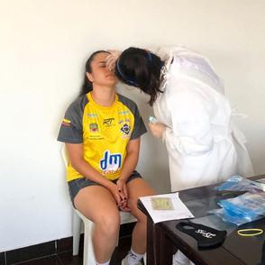 Atletas e comissão técnica da equipe São José Futsal Feminino realizaram teste de Covid-19