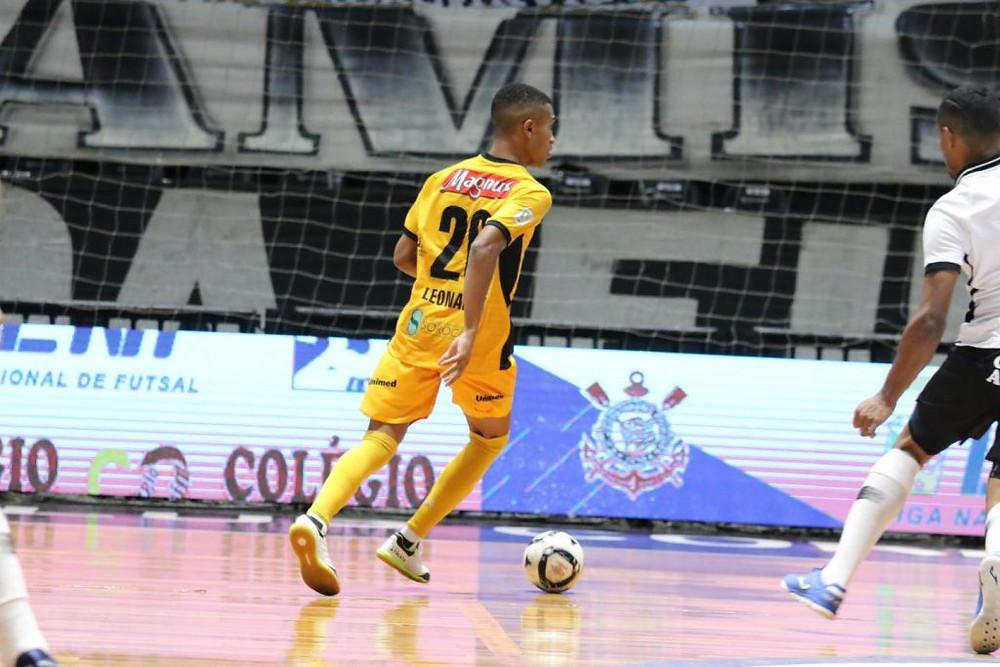 Crédito: Guilherme Mansueto - Leozinho durante o primeiro jogo da final da LNF 2020