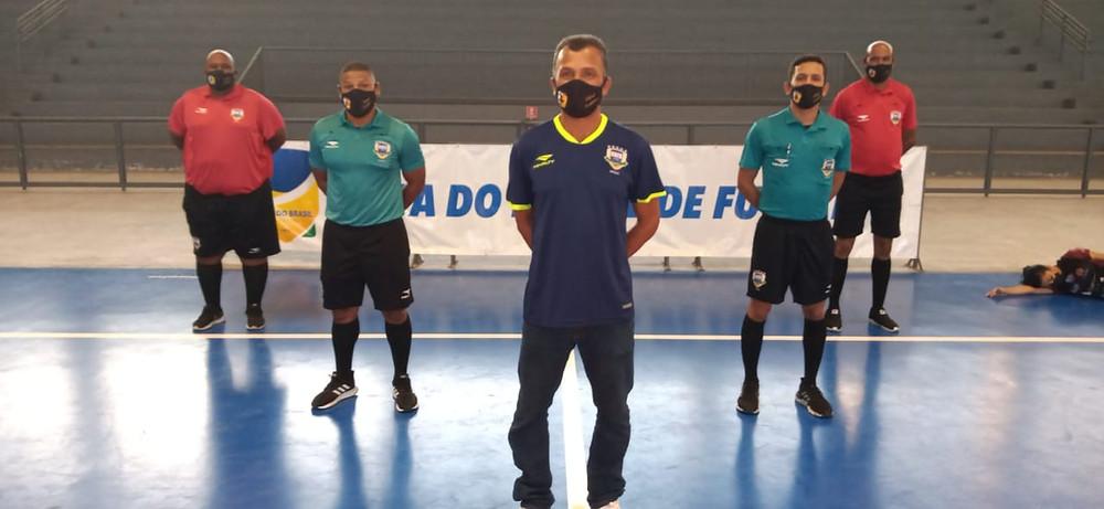 Crédito: Rômulo Oliveira - Equipe de arbitragem na Copa do Brasil Feminina