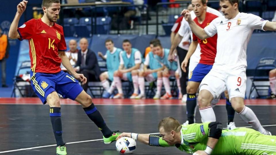 Crédito: LNFS - Raúl Campos, do Palma Futsal, durante jogo com a Seleção Espanhola