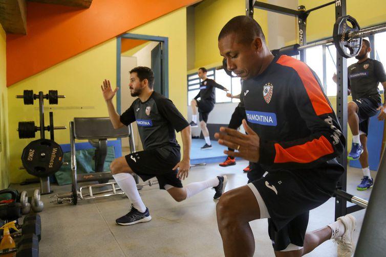 Crédito: Ulisses Castro - Equipe da ACBF voltou a treinar em maio, e apenas no último dia 18 voltou a se exercitar na academia.