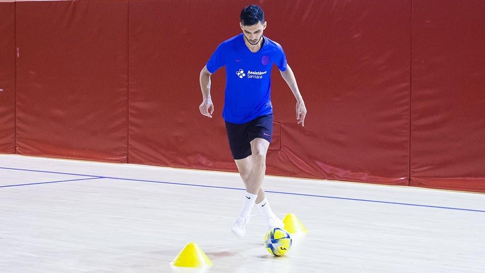 Esquerdinha retomando os treinamentos no Barcelona