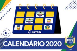 CBFS disponibiliza a projeção do calendário de competições da temporada 2020