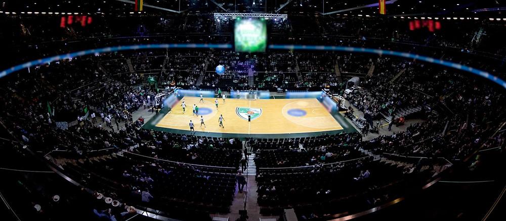 """Crédito: Divulgação - Arena Kaunas casa do clube de basquete Kaunas """"Žalgiris"""""""