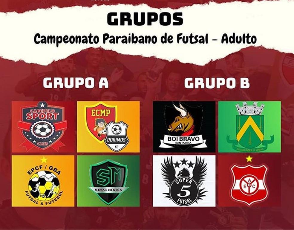 Crédito: Divulgação - Oito times, divididos em dois grupos, vão disputar o Campeonato Paraibano de Futsal de 2020