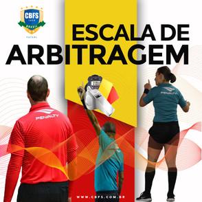 Escalação árbitros para a Supercopa de Futsal feminino jogo 1