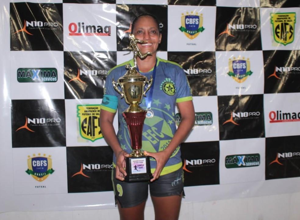 Crédito: Rosivaldo Nascimento/Arquivo Pessoal - Jhessica - craque do Amapaense Futsal Feminino