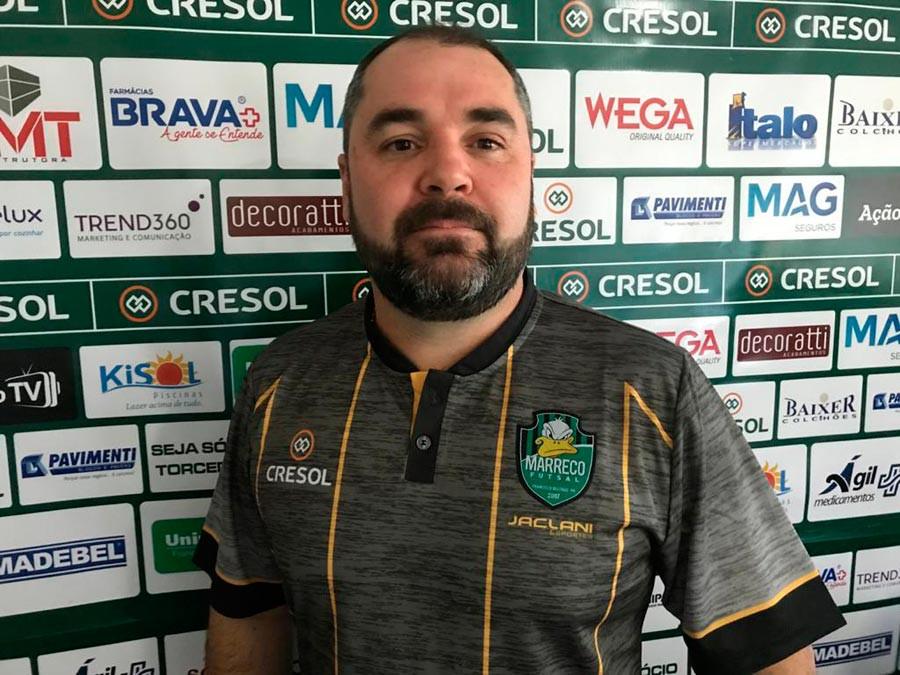 Crédito: Adolfo Pegoraro - Ricardo Ronqui, gerente de futsal do Marreco.
