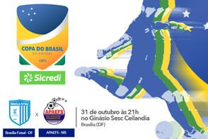 Brasília recebe o APAEFS em casa para decisão da segunda partida pela Copa do Brasil Sicredi
