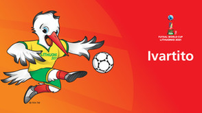 A cegonha dançante estreia como mascote da Copa do Mundo de Futsal da FIFA Lituânia 2021 ™