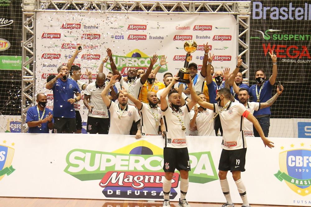 Crédito: Corinthians o bicampeonato da Supercopa Magnus de Futsal