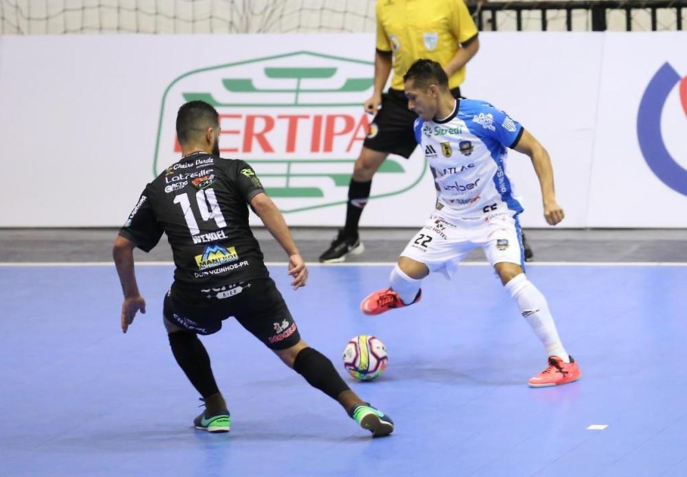 Crédito: Mauricio Moreira - Pato Futsal vem de empate com Dois Vizinhos no estadual