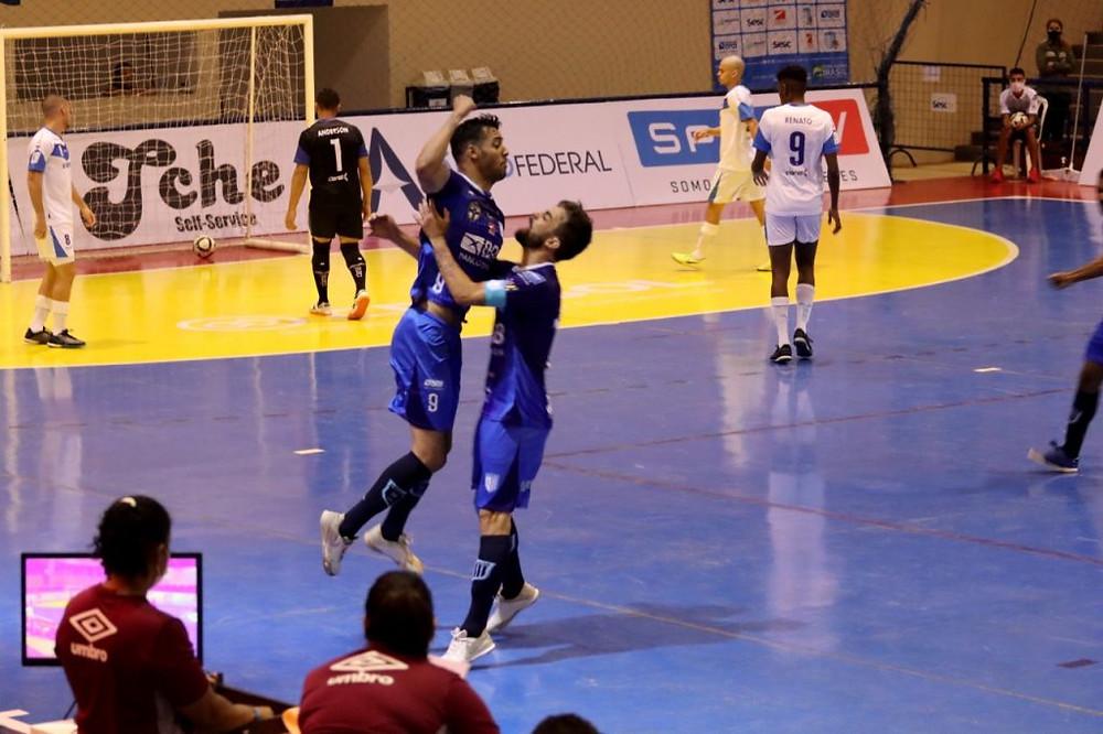 Crédito: Brasília Futsal - Brasília chegou a abrir 5 a 0 no placar