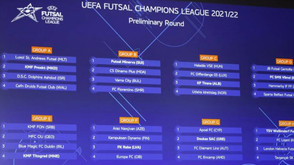 Sorteio da fase preliminar da UEFA Futsal Champions League