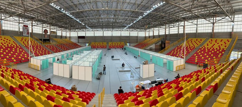 Arena Sorocaba é utilizada como hospital de campanha