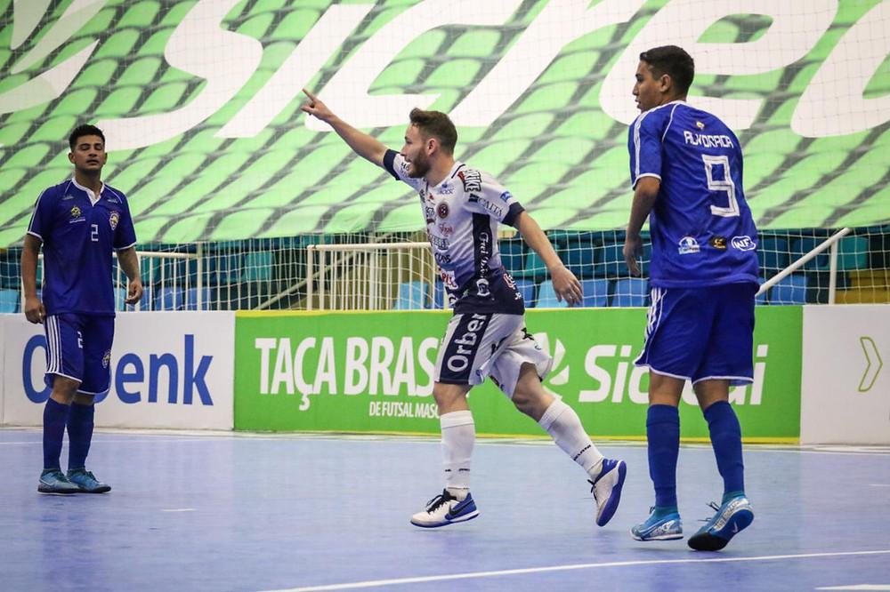 Crédito: Leonardo Hubbe - Joaçaba vence sua primeira partida na Taça Brasil Sicredi