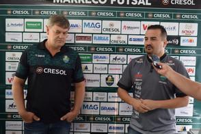 Fabinho Gomes é apresentado como o novo técnico do Marreco