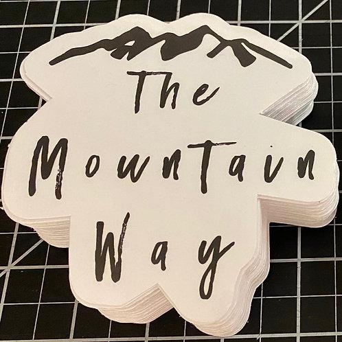 The Mountain Way Sticker