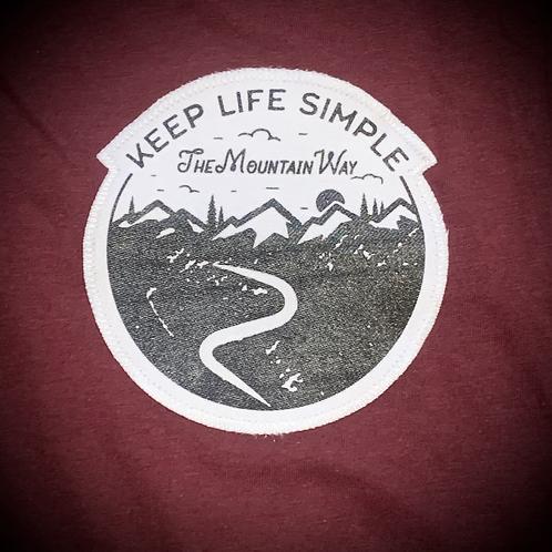 Keep life simple patch tshirt