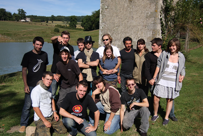 Le Studio Phocéen en tournage à Saint-Hilaire-le-Château en août 2009