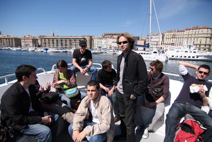 Le Studio Phocéen en tournage à Marseille le 4 avril 2009
