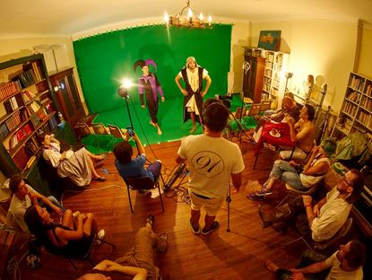Le studio Phocéen en tournage en décors virtuel