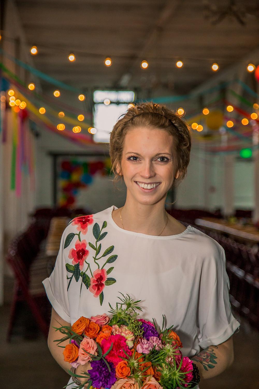 Eco Friendly Wedding | Bright Florals at Dairyland | Snohomish Wedding Planner