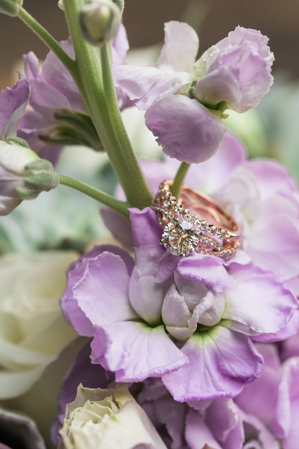 Realistic Wedding Planning Under 15k | Wedding Band and Diamond Engagement Ring with Floral Details | Snohomish Wedding Planning