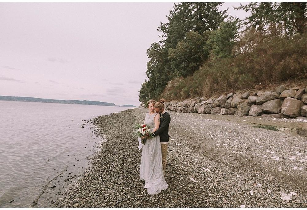 $6k DIY Wedding Done Right | Bride & Groom at Kitsap Memorial State Park | Snohomish Wedding Coordinator